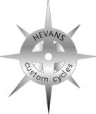 HEVANS logo metal look badge